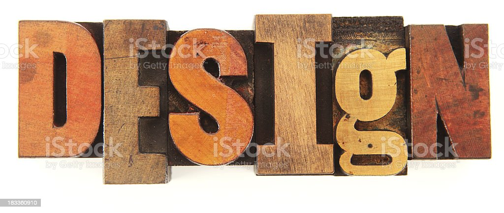 Letterpress - Design royalty-free stock photo