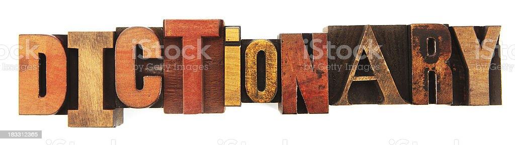 Letterpress - Dictionary stock photo
