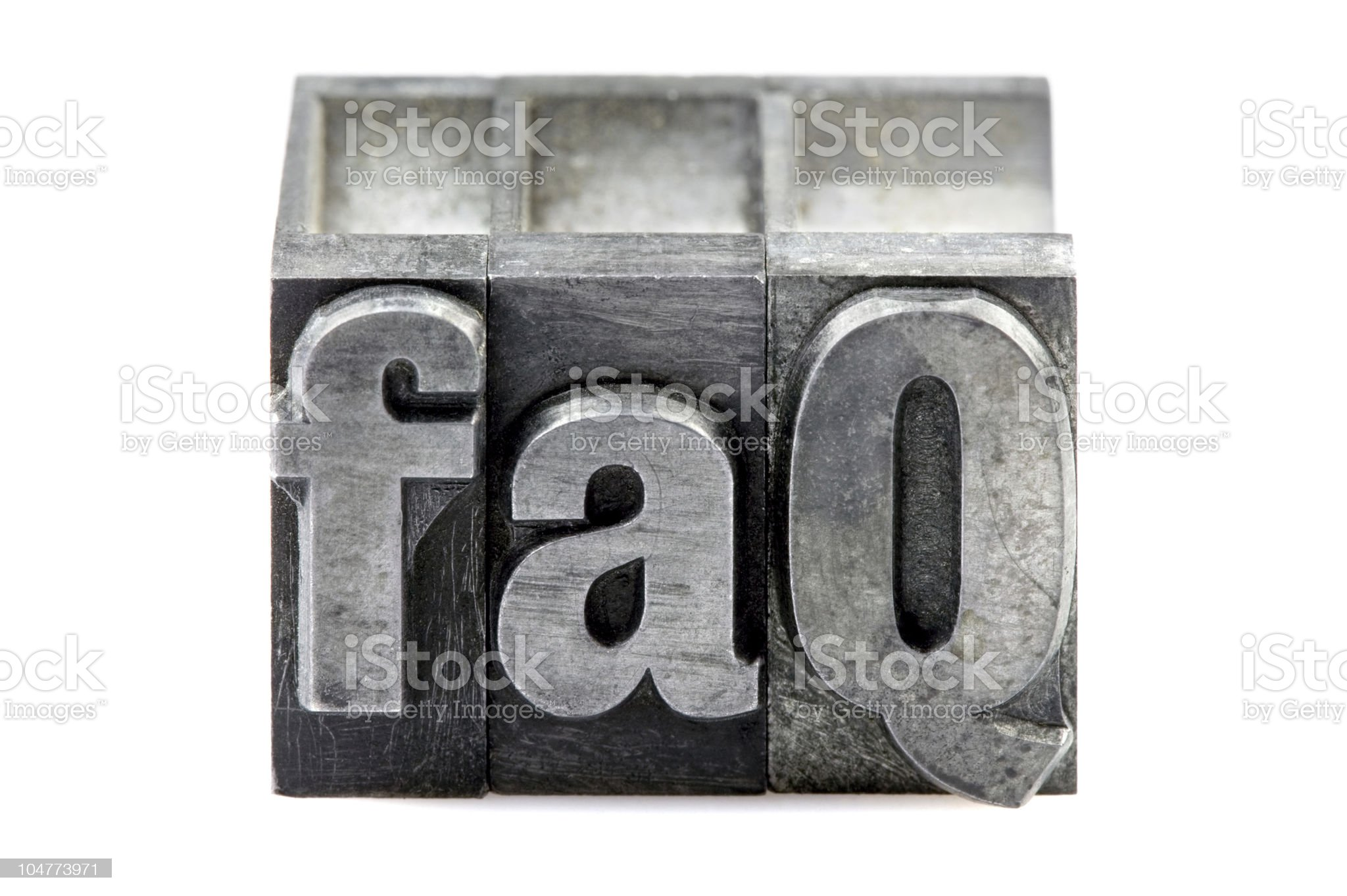 Letterpress FAQ royalty-free stock photo