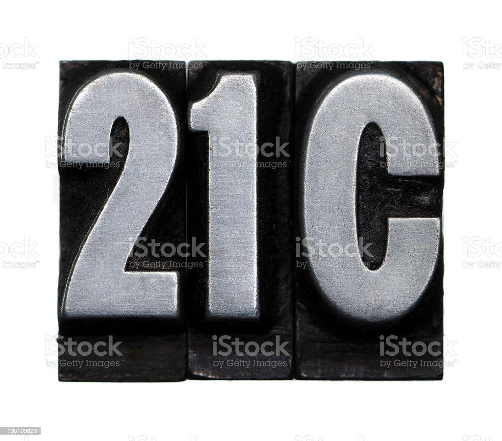 21C - Letterpress letter royalty-free stock photo