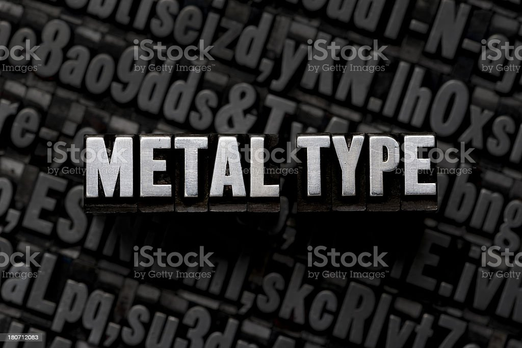 METAL TYPE - Letterpress Letters royalty-free stock photo