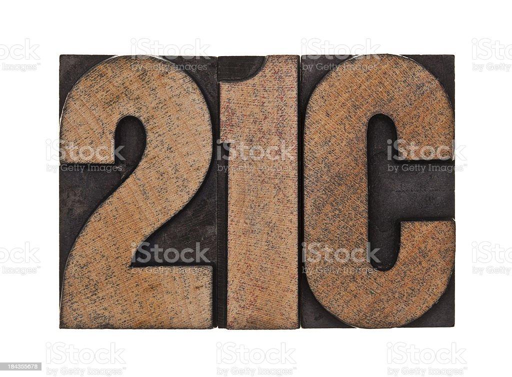 21C - Letterpress Letters stock photo