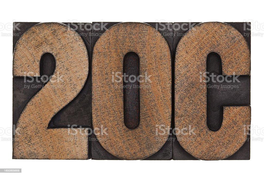 20C - Letterpress Letters royalty-free stock photo