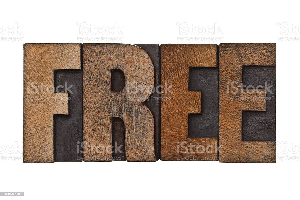 FREE - Letterpress Letters royalty-free stock photo