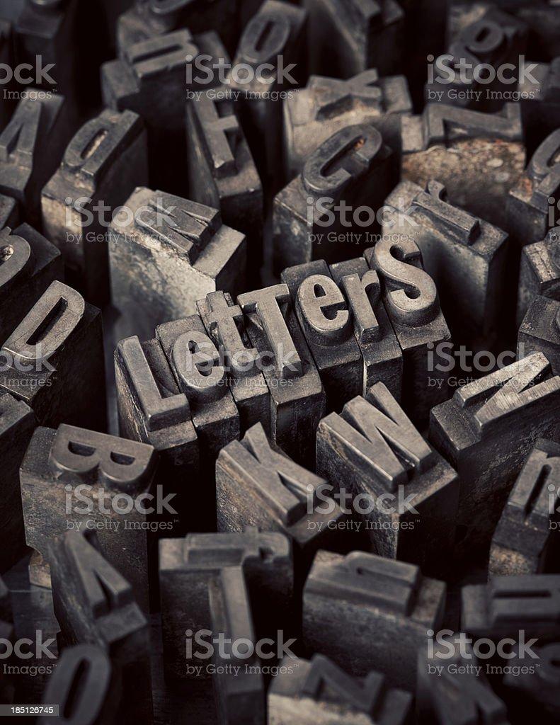 Letterpress Letters stock photo