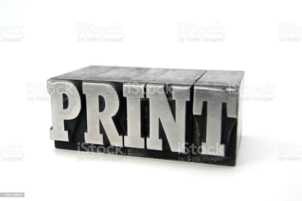 PRINT  letterpress royalty-free stock photo