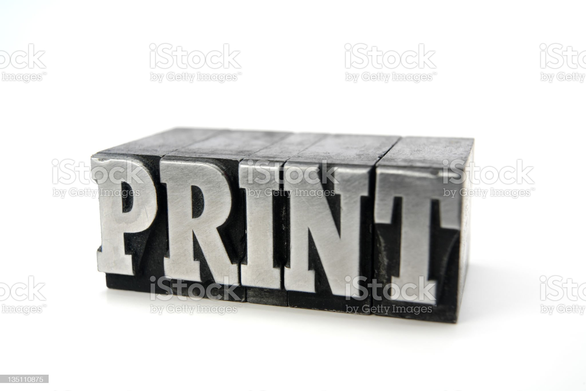PRINT  letterpress royalty-free stock photo