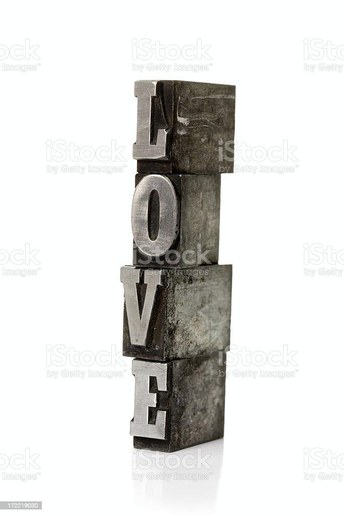 LOVE  letterpress royalty-free stock photo