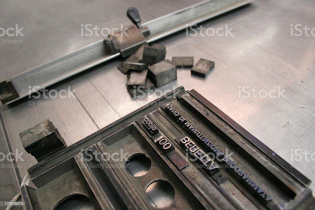 letterpress stock photo