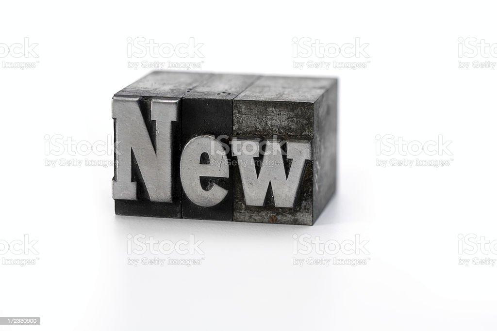 NEW  letterpress royalty-free stock photo