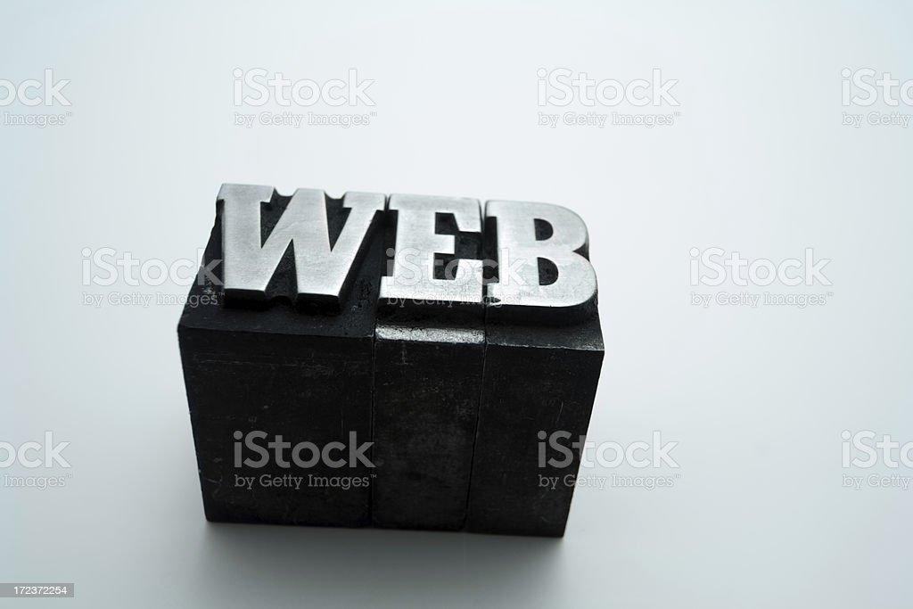 WEB  letterpress royalty-free stock photo