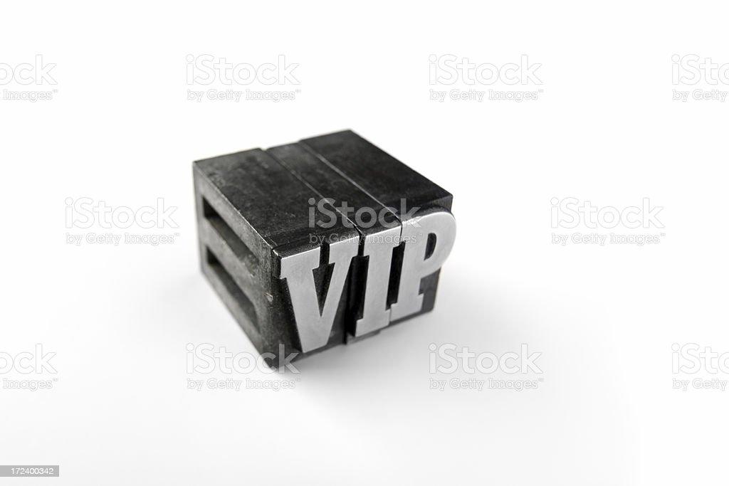 VIP letterpress royalty-free stock photo