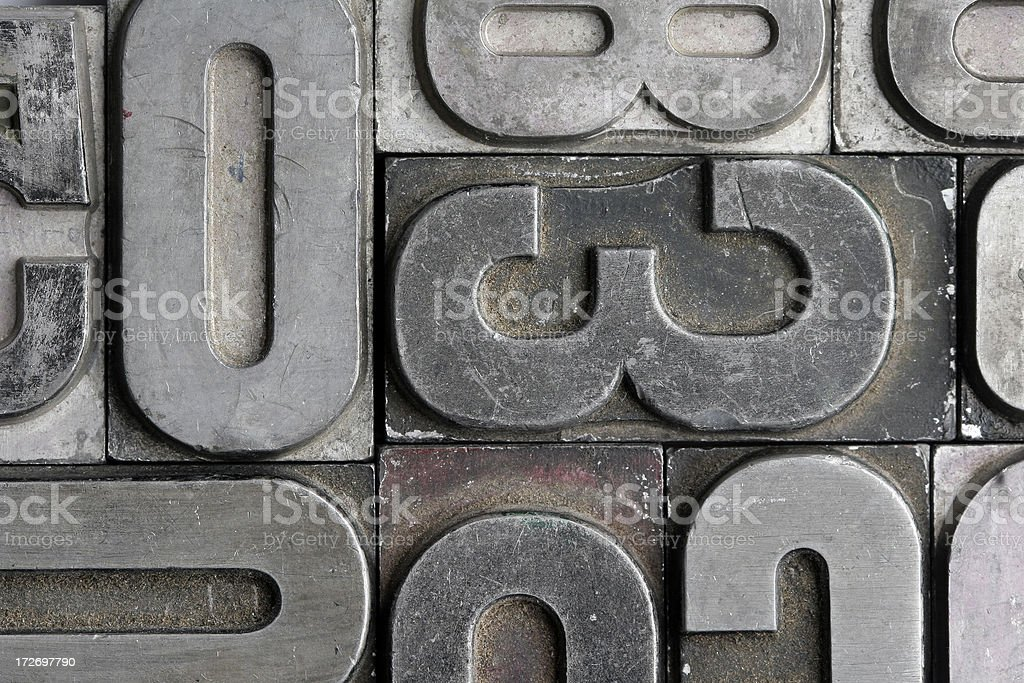 letterpress royalty-free stock photo