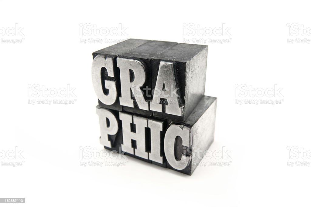 GRAPHIC  letterpress royalty-free stock photo