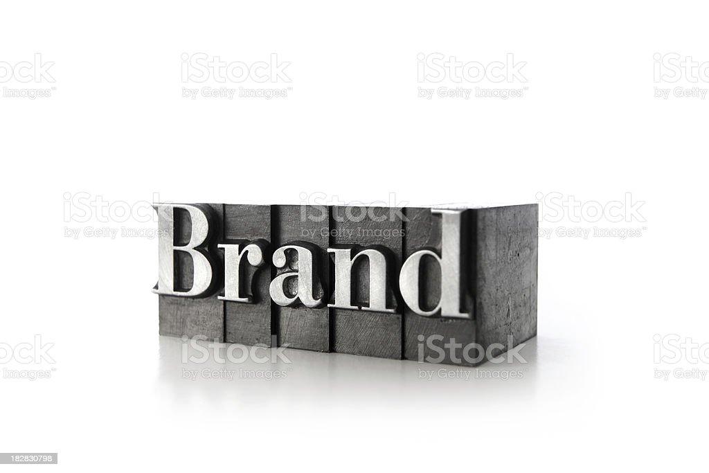 BRAND letterpress royalty-free stock photo