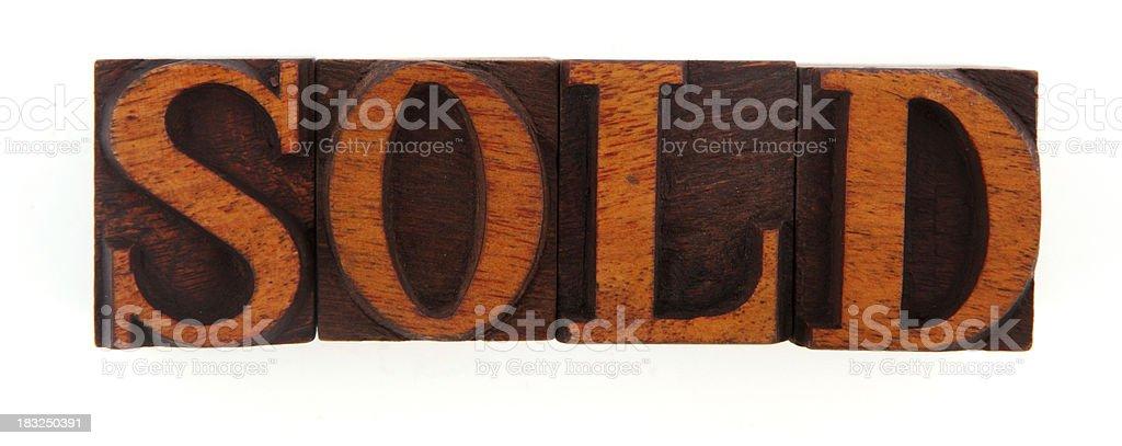 Letterpress - Sold stock photo