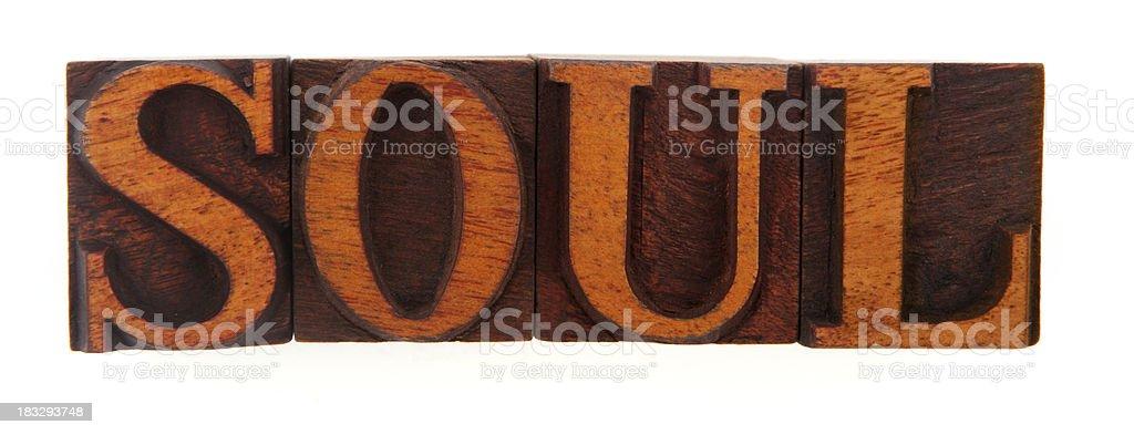 Letterpress - Soul stock photo
