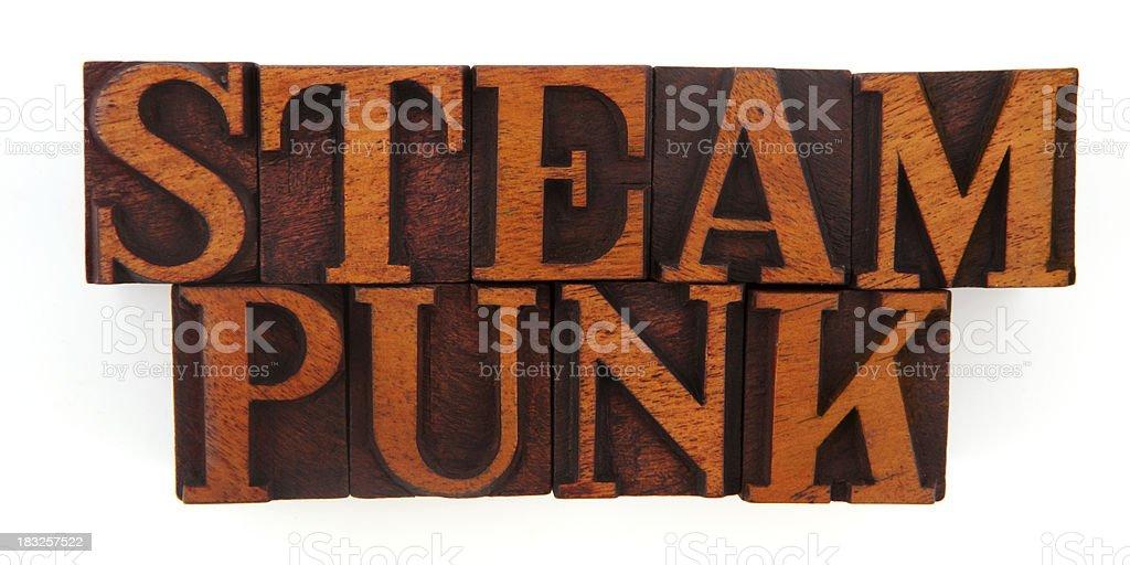 Letterpress - Steam Punk stock photo