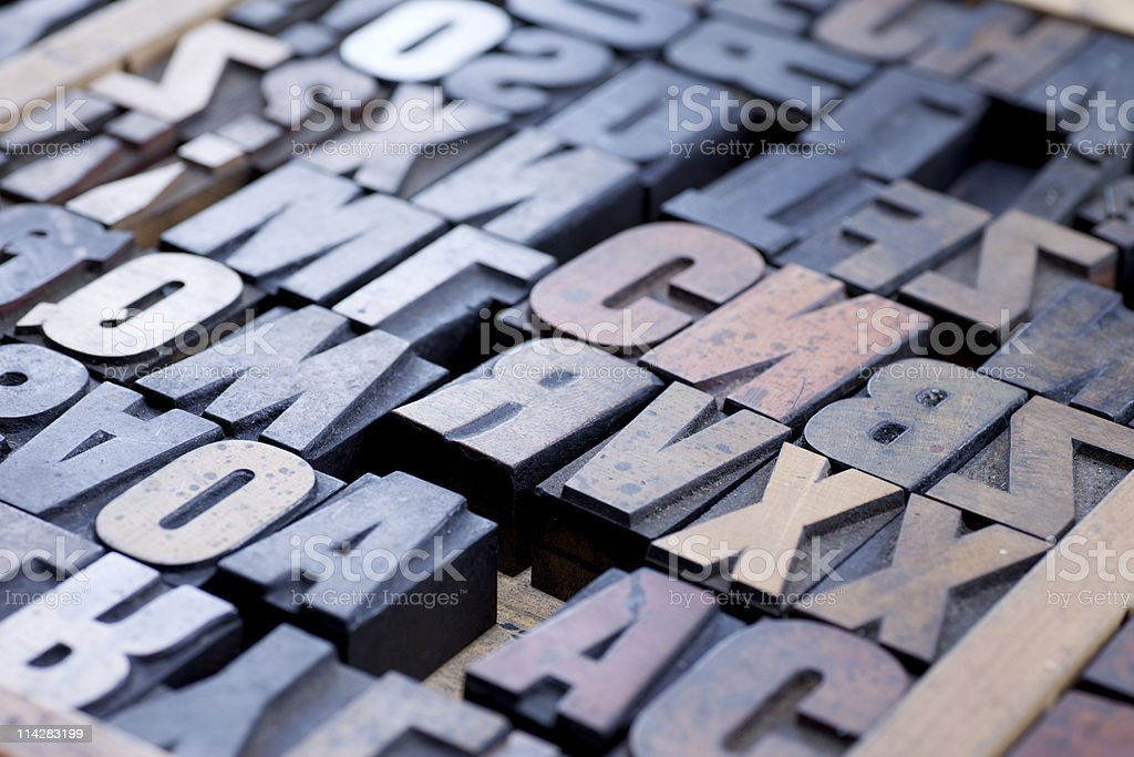 Letterpress Type... royalty-free stock photo