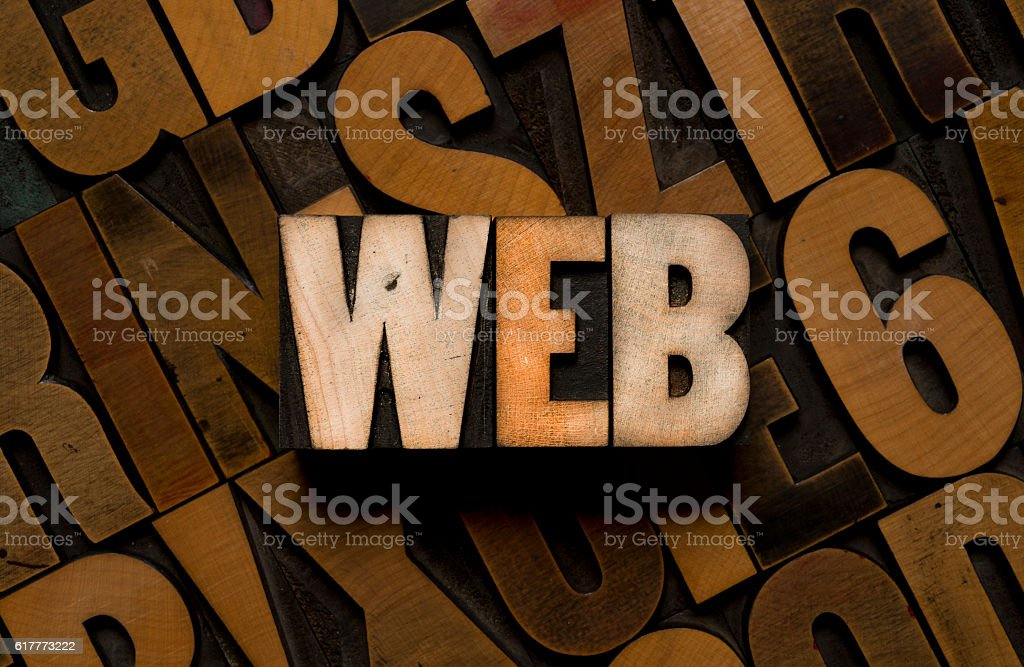 WEB - Letterpress type stock photo