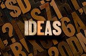 IDEAS - Letterpress type