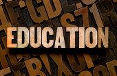 EDUCATION - Letterpress type