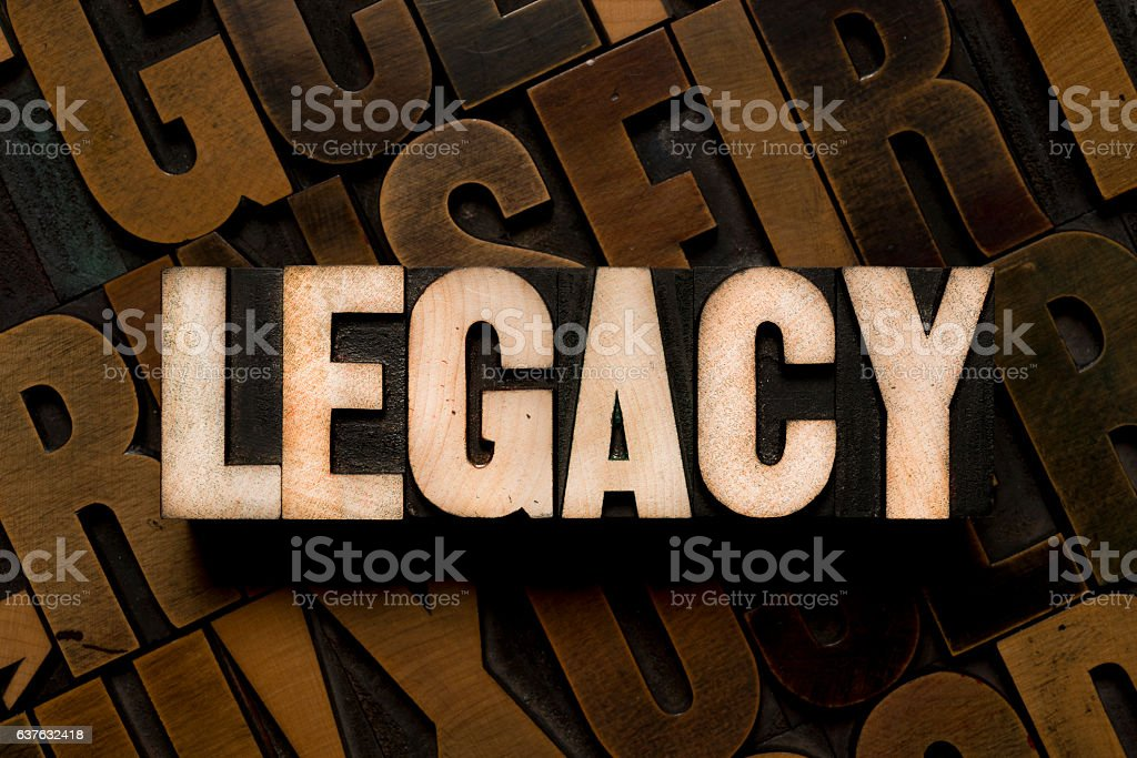 LEGACY - Letterpress type stock photo