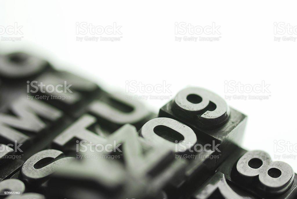 letterpress type royalty-free stock photo