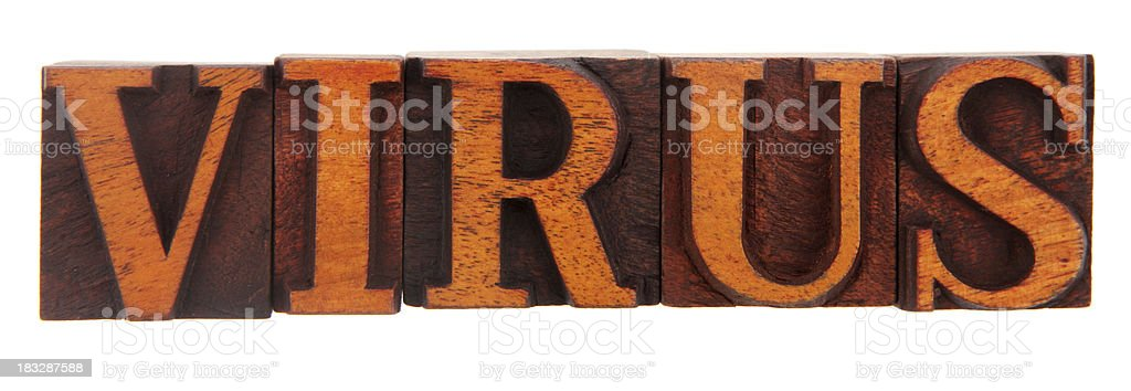 Letterpress - Virus stock photo