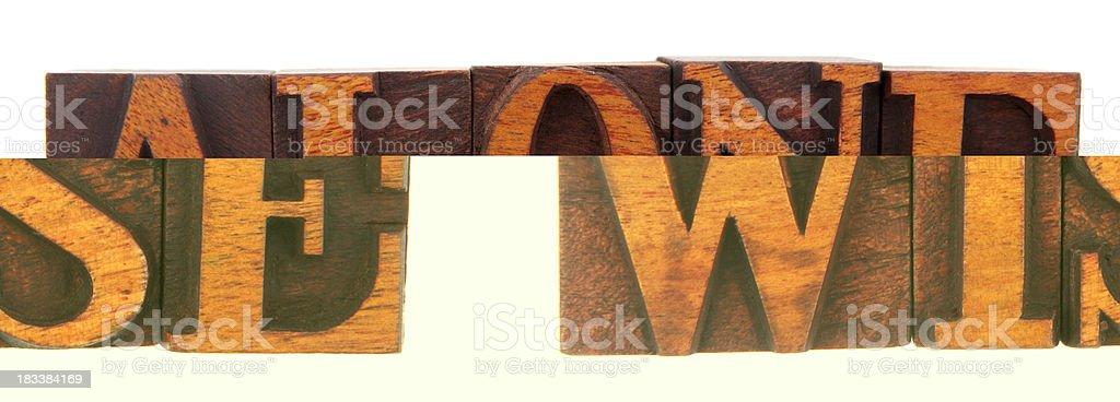 Letterpress - Wise stock photo