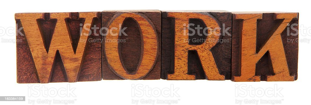 Letterpress - work stock photo