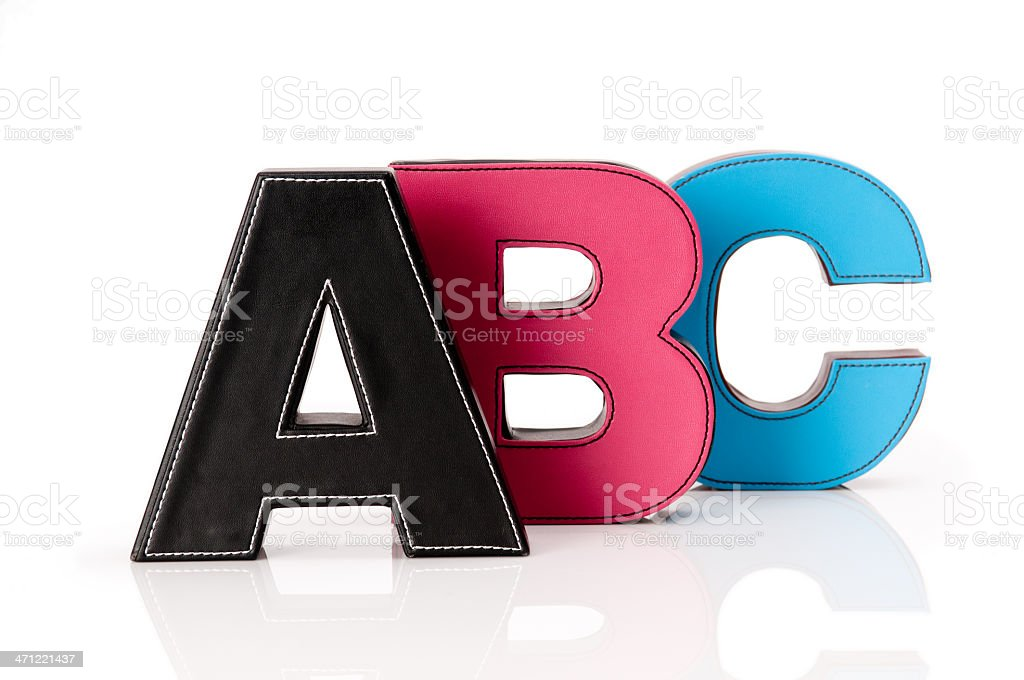 Letters A B C royalty-free stock photo