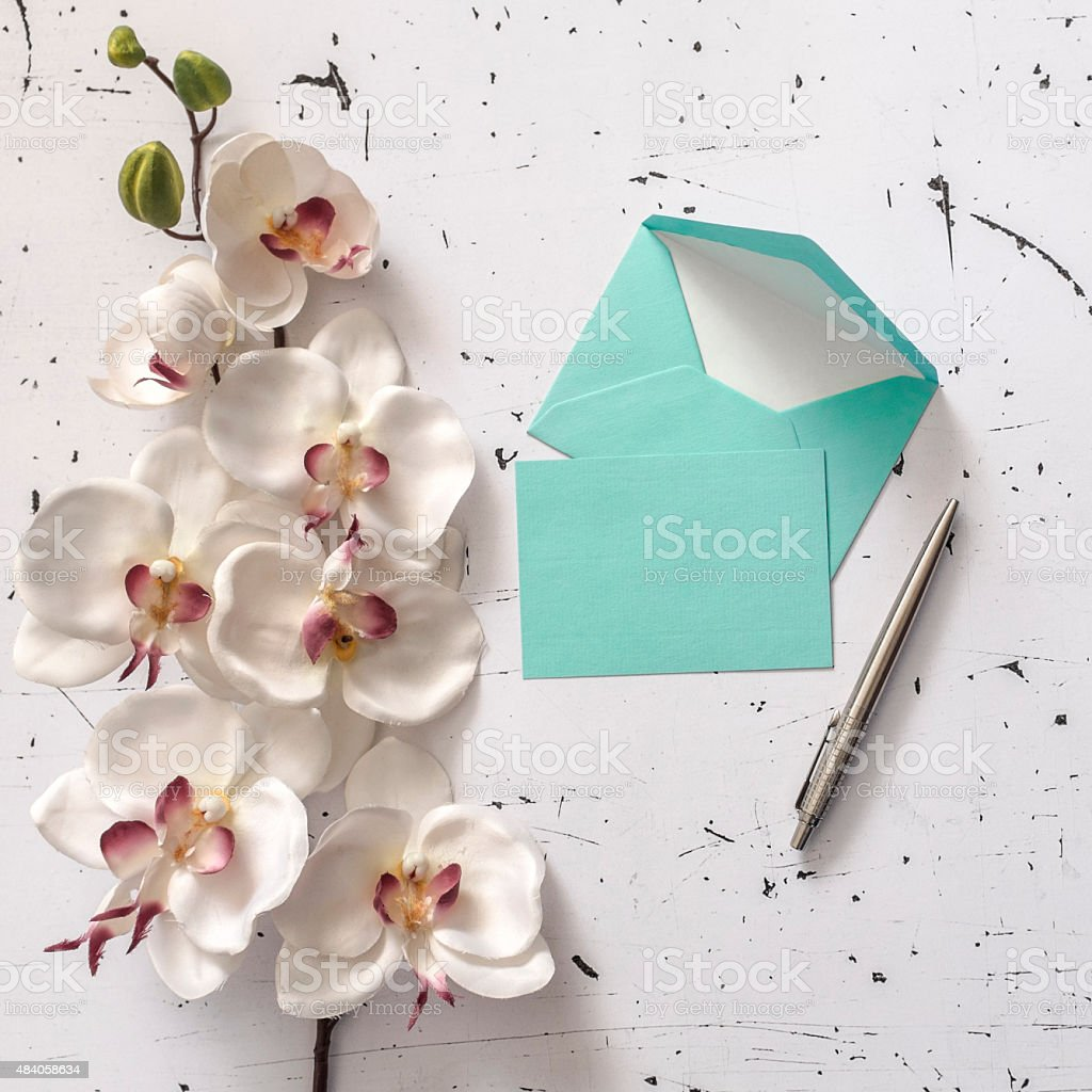 Letters and flowers, vintage style stock photo