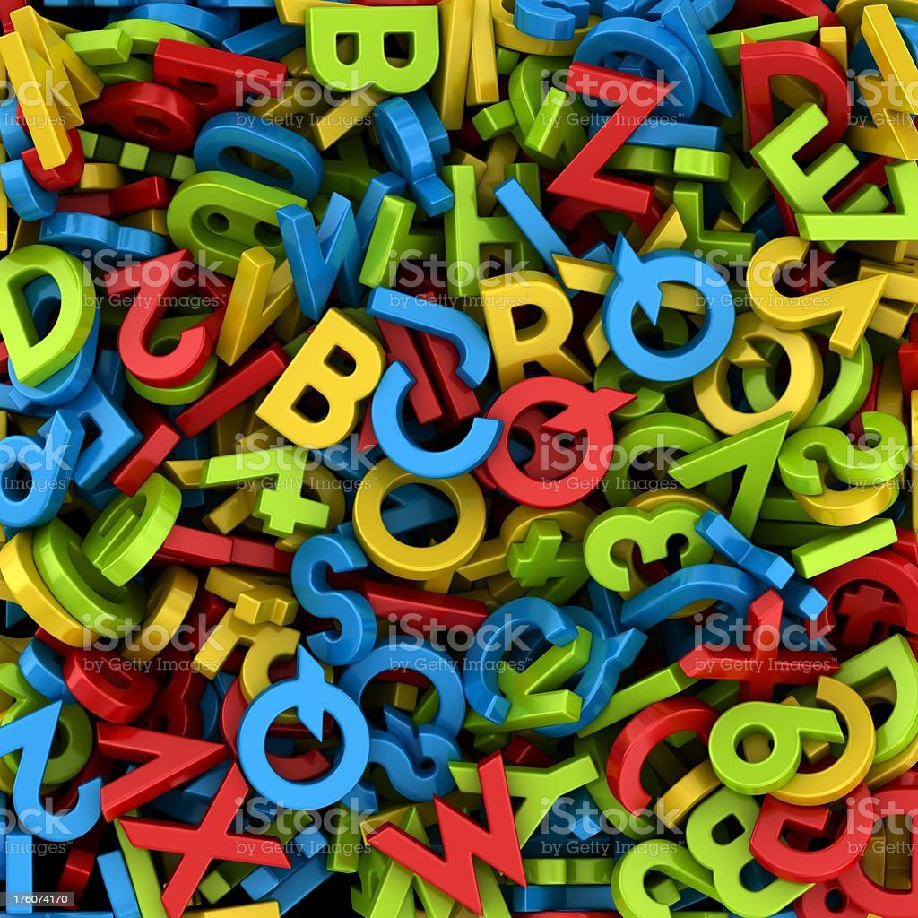 letters and numbers background royalty-free stock photo