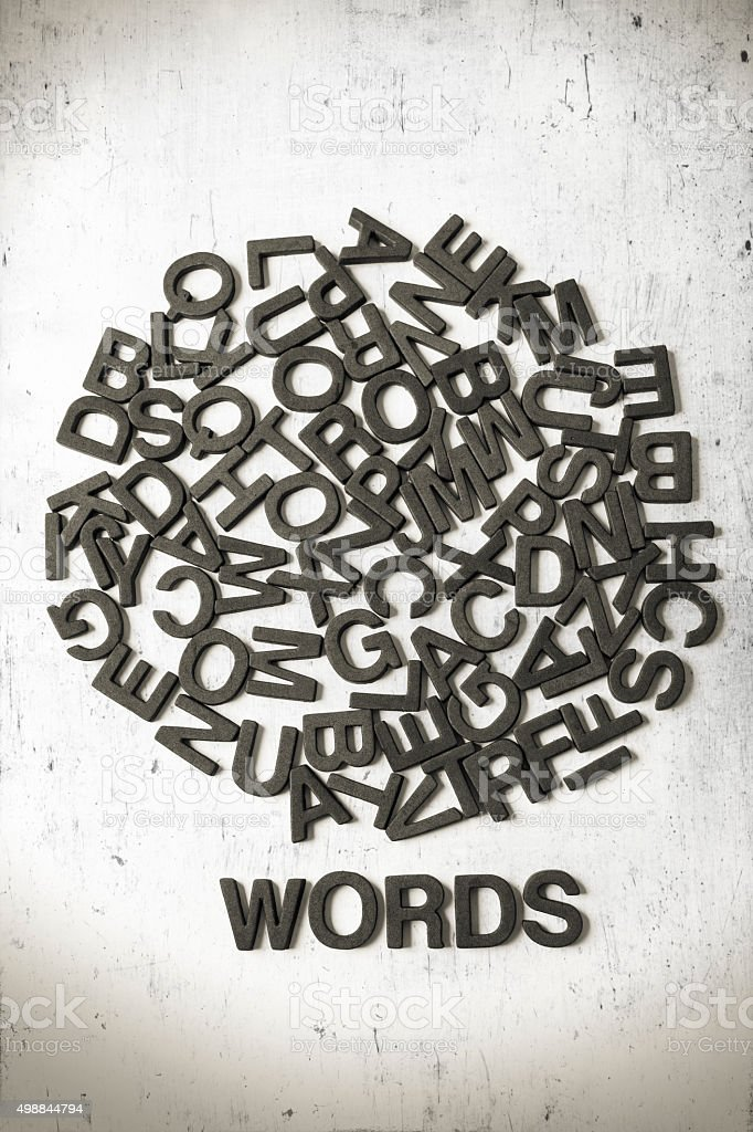 Letters and word stock photo