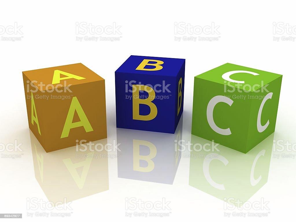 ABC Letters Blocks royalty-free stock photo