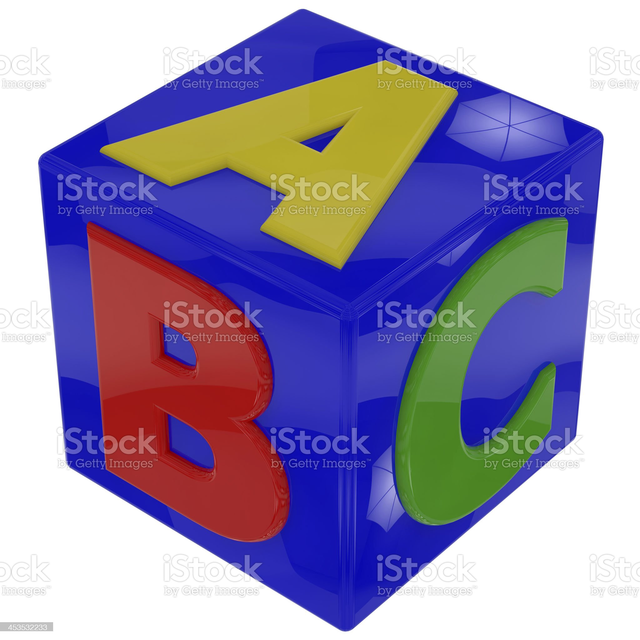 letters cube royalty-free stock photo
