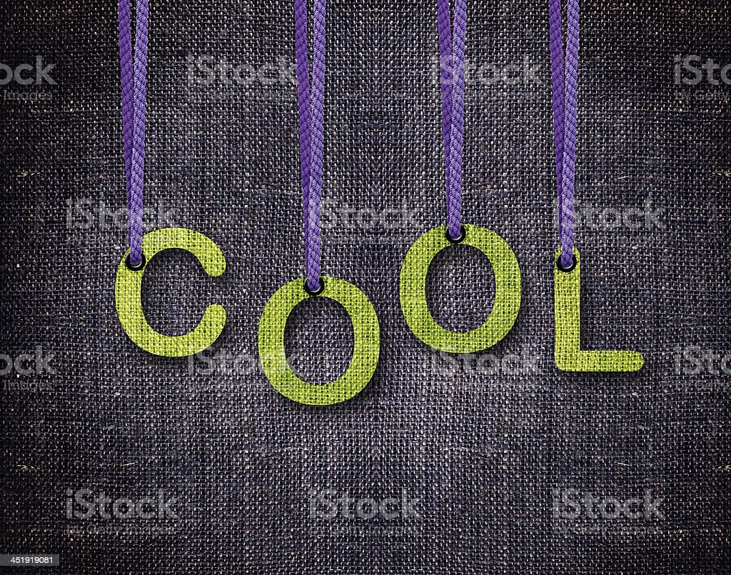 Letters hanging strings royalty-free stock photo