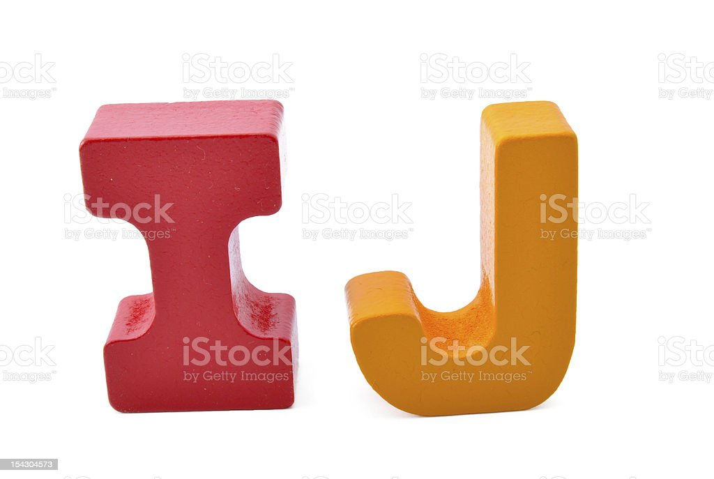 letters I and J royalty-free stock photo