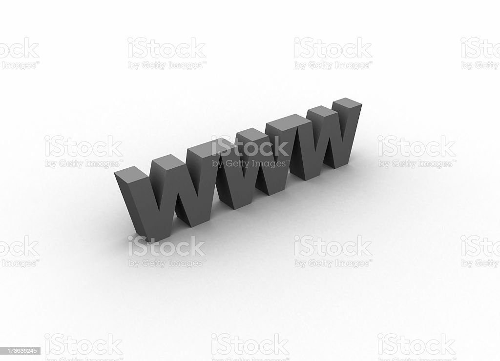 WWW letters in 3D royalty-free stock photo