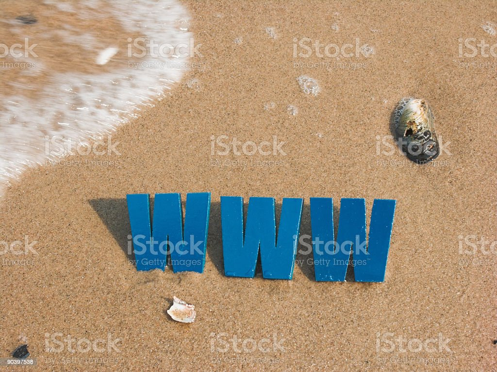 Letters in the Sand royalty-free stock photo