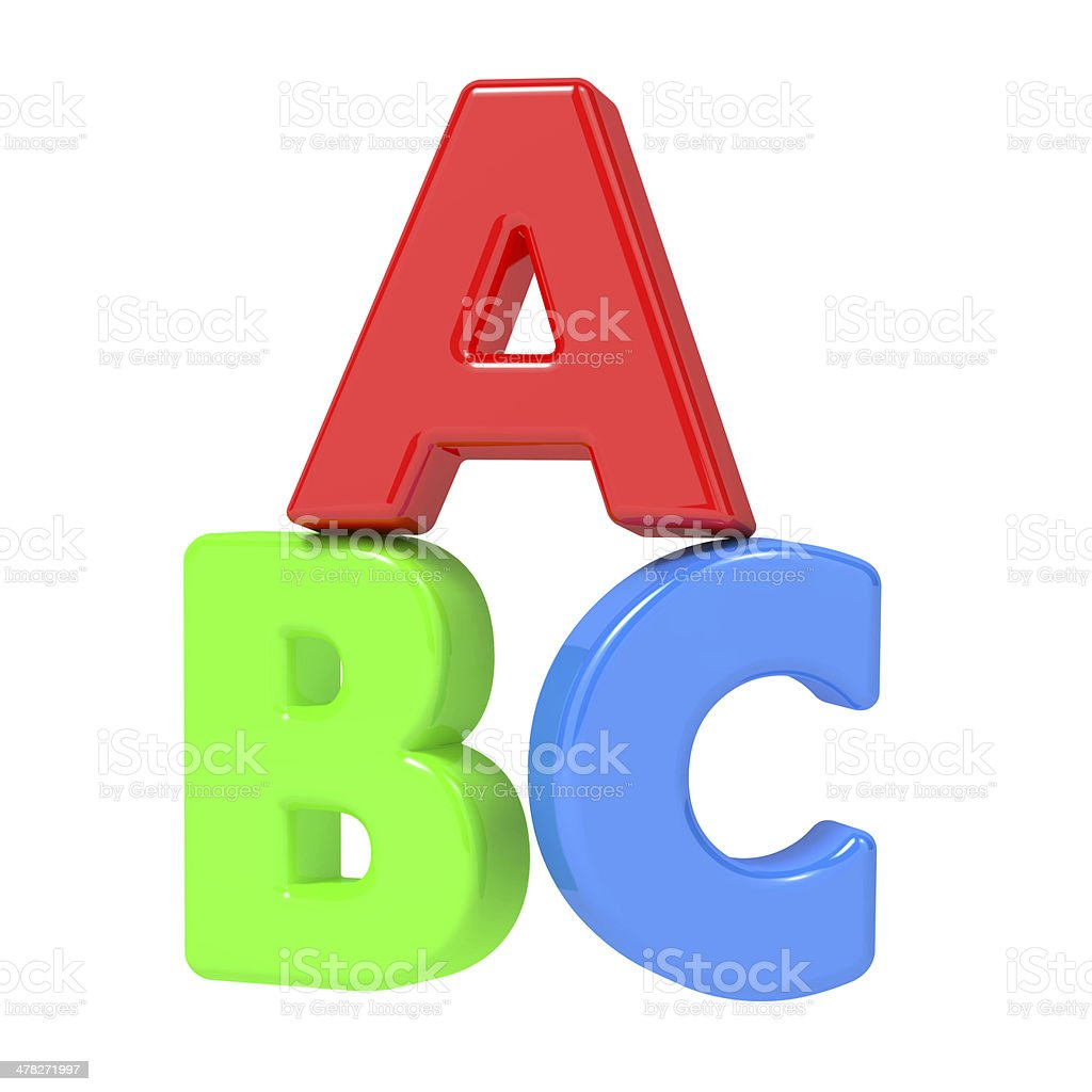 ABC Letters Isolated on White. royalty-free stock photo