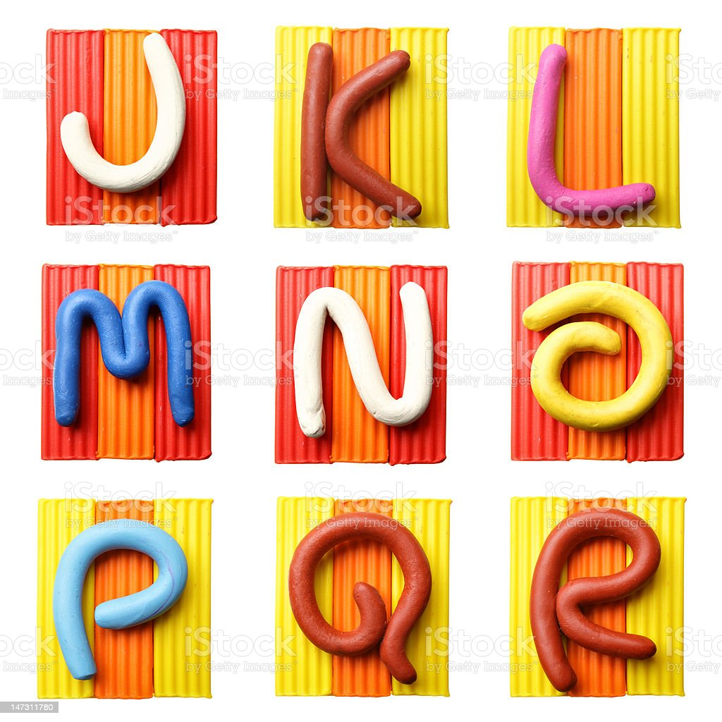 Letters J-R royalty-free stock photo