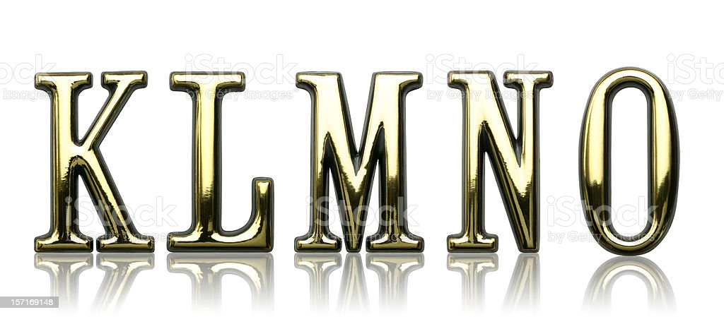 Letters - K L M N O royalty-free stock photo