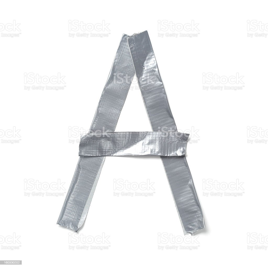 Letters made out of tape royalty-free stock photo