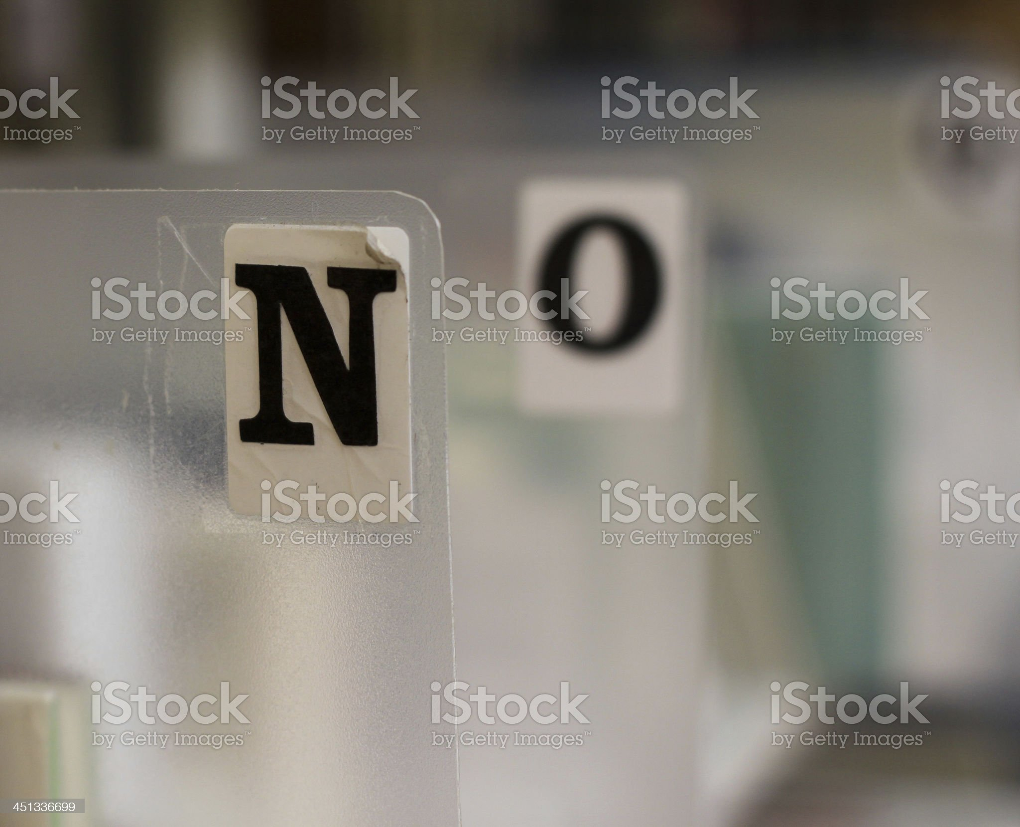 Letters N O royalty-free stock photo