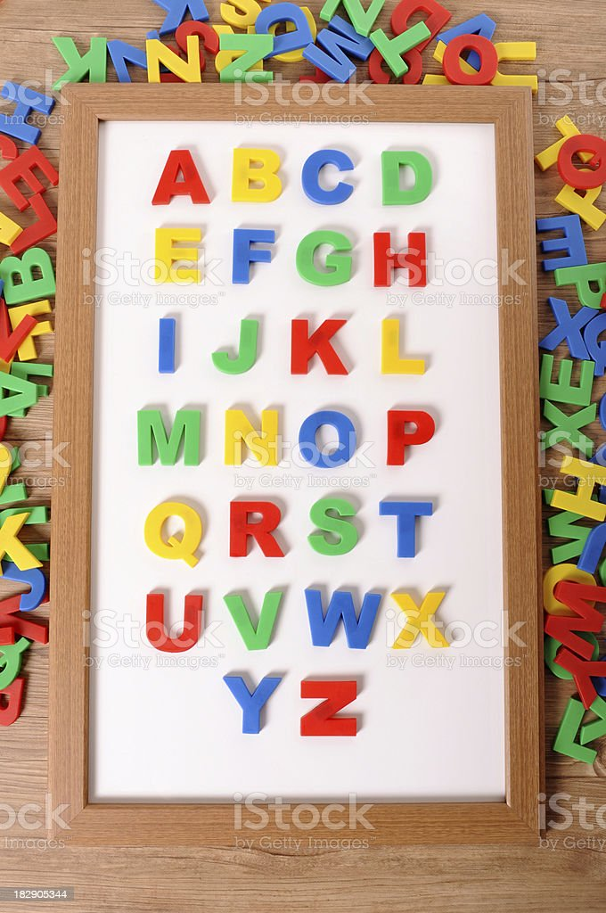 Letters of alphabet royalty-free stock photo