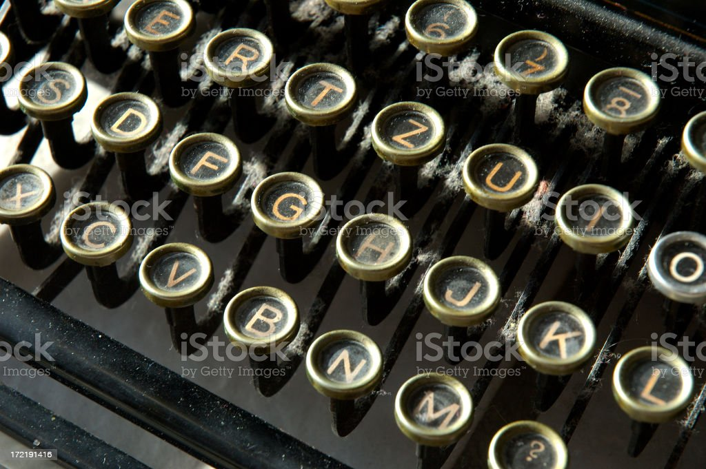 Letters of an old typewriter royalty-free stock photo