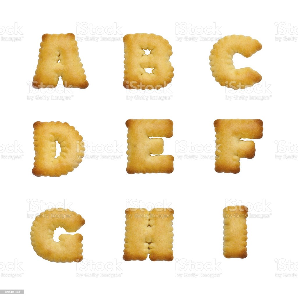 Letters of the British alphabet royalty-free stock photo