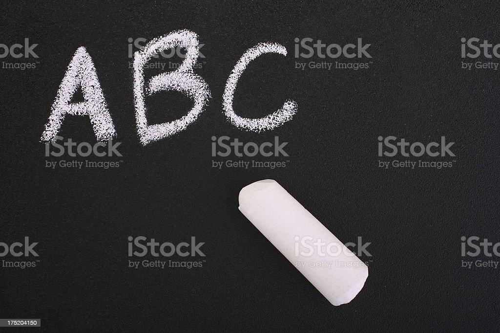 Letters on blackboard royalty-free stock photo
